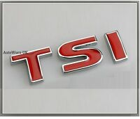 TSI Rear Boot Badge Decal Emblem VW Scirocco Polo Beetle Golf Passat Trunk Tail