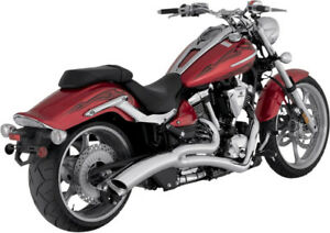 Echappement-Grand-Rayon-2-into-1-Chrome-Yamaha-XV-Commando-Vance-amp-Hines