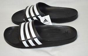 2f10870fa270 New Adidas Performance Men s Duramo Slide Sandal Black   White Size ...