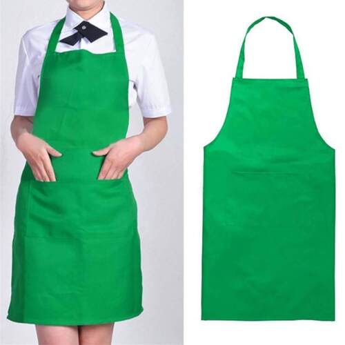 Men Women Unisex Chef Apron Kitchen Waterproof Pocket Catering Cooking Butcher