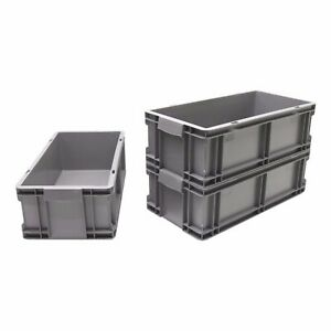 NEW Heavy Duty 50cm Industrial Plastic Euro Storage Container Crate