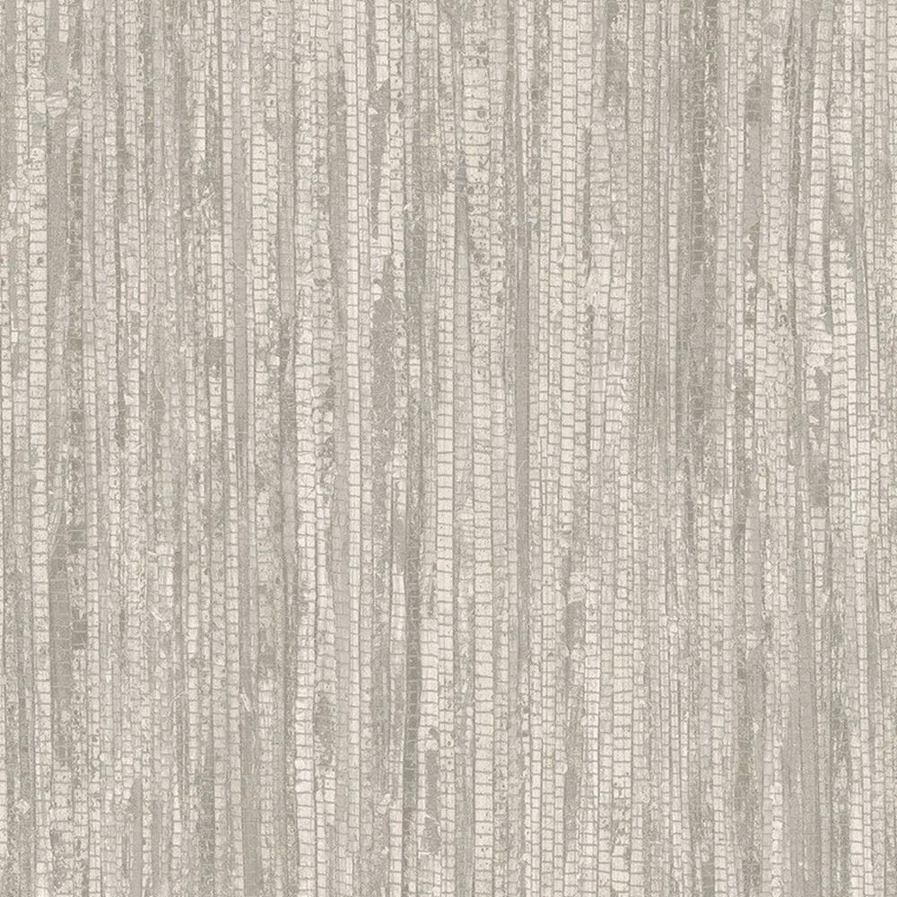 G67966 - Bio Textures Texturiert Grastapete Beige Grau Galerie Tapete