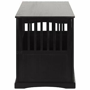 Casual Home 600 22 Wooden Pet Crate End Table 27 Inch In Black