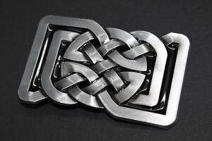 7d0bf12819ac Chargement de l image en cours Rectangulaire-Cercle-N-ud-Celtique-Metal- Boucle-Ceinture-