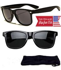 New Sunglasses Retro Glasses Vintage Frame Unisex Fashion Black
