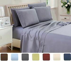 6PC-Bed-Sheet-Set-Luxury-Collection-Deep-Pocket-1800-Count-Series-3-4-Pilowcase
