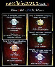Diablo 3 RoS PS4 - Unendlich Makellose  Edelsteine - Softcore Modus
