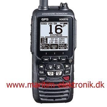 Håndholdt VHF med 66 kanals GPS modtager  indby...