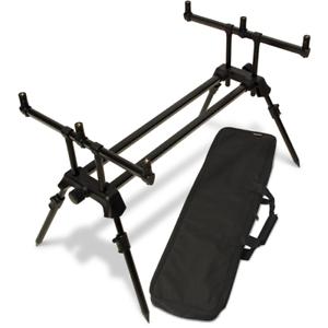 NGT Carp Coarse Fishing Dual Line 3 Rod Pod with Adjustable Length, Legs & Case