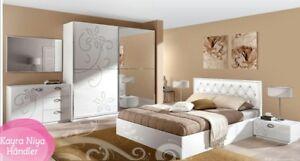 Details zu Schlafzimmer komplett PARADISE - 6TLG ,WEIß HOCHGLANZ..