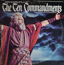 """THE TEN COMMANDMENTS - ELMER BERNSTEIN  12"""" 2 LP  (P975)"""