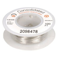 24 Awg Solid Tinned-copper Bus Bar Wire 100 Feet