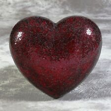 Red Crackle Mirror Mosaic Heart Wall Hanging 45 x 51cm