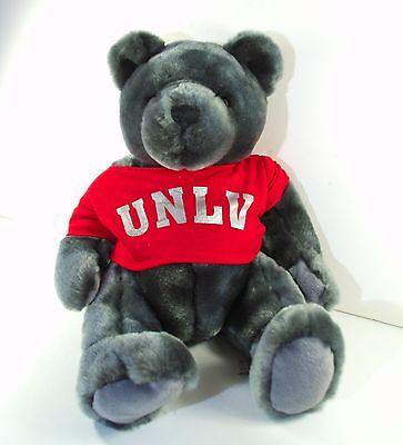 "UNLV Gray Teddy Bear Stuffed Animal 10"" University Nevada Las Vegas Plush Rebel"