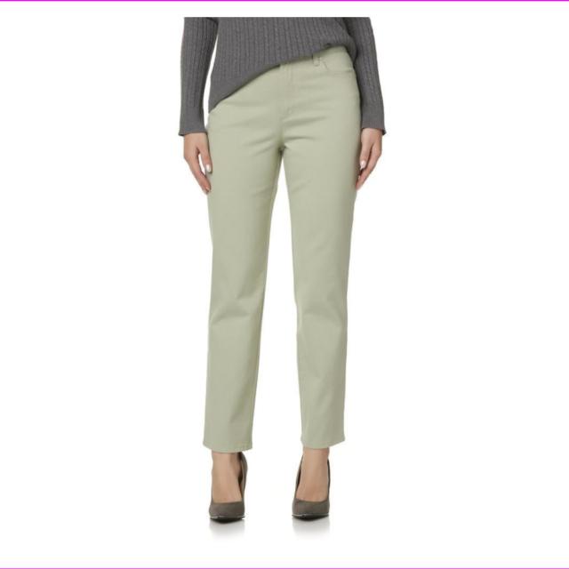 NWT Gloria Vanderbilt Ladies Heritage Fit Amanda Desert Sage Size 16S