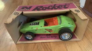 Vintage-Nylint-Hot-Rod-Roadster-Pressed-Steel-Rocket-Car-in-Box-1970-039-s-Collector