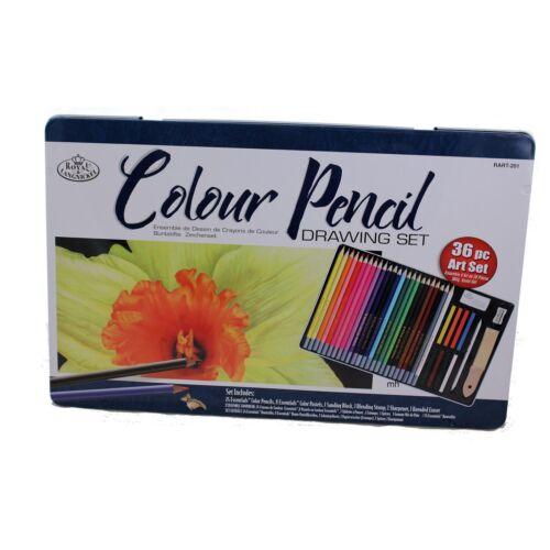 Dibujo a lápiz de Color Set 36pc Estaño Surtidos Dibujo Royal /& Langnickel