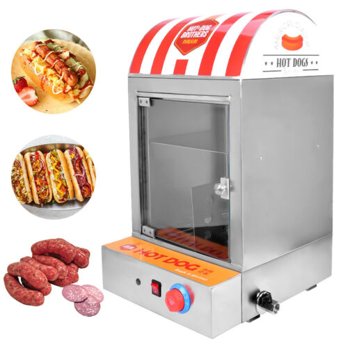 1500W Würstchenwärmer Erhitzer 220V Professional Hotdog Machine Hot Dog Steamer  UUAyi