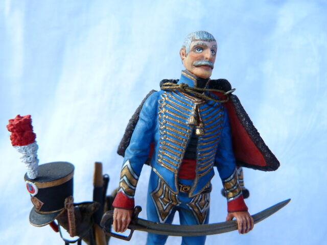 Soldat de plomb peinture fine 80mm - Major du du du 4ème régiment de hussard 1810 7bdb37