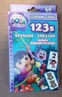 Dora The Explorer 123s Learning Flash Cards Spanish And English Preschool