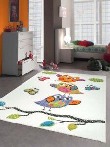 Kinderteppich-Kurzflor-3D-Konturenschnitt-Weiss-Pink-Grau-Gruen-Tuerkis