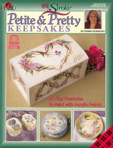 Plaid-PETITE-PRETTY-KEEPSAKES-Flower-Painting-Paperback-Crafts-English-Book-New
