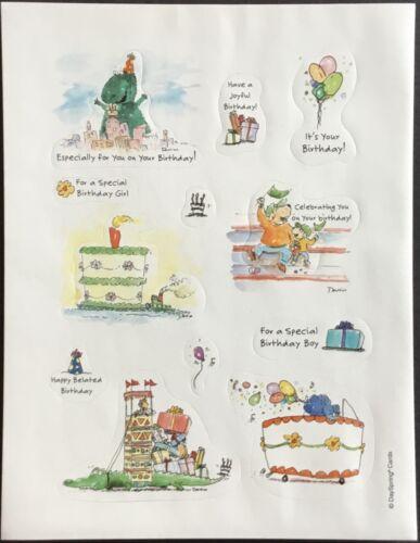 Mint Condition!! Vintage Stickers Birthday Dayspring