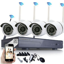 8CH 4pcs HD 720P WIFI Wireless IP Camera System NVR Outdoor Security Home Video