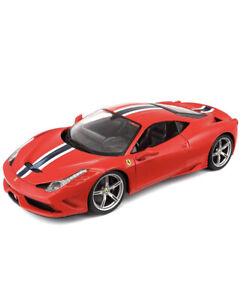 Maisto-Special-Edition-1-18-Escala-Die-Cast-Auto-Rojo-Ferrari-458-Speciale-con-base