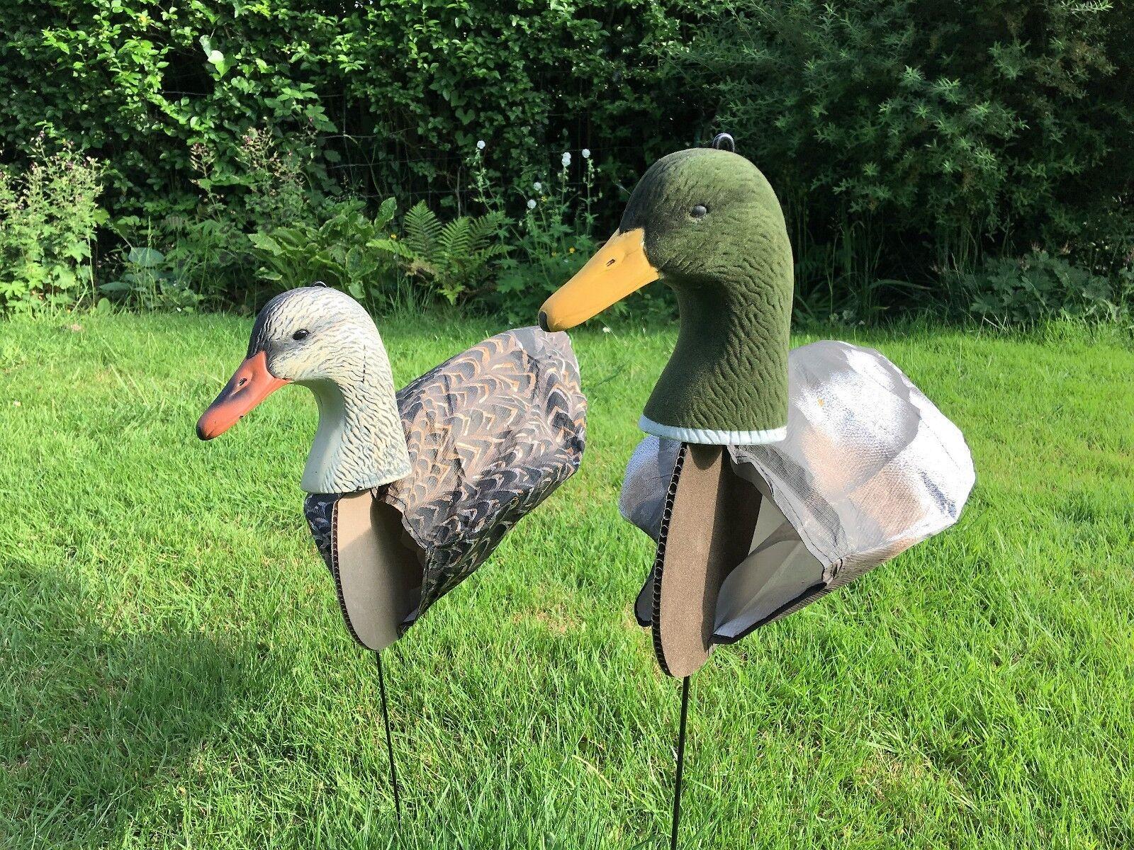 Duck decoys decoys Lot de 6 SILLOSOCKS Mallard decoys Duck avec 3D Têtes Wildfowling 03607b