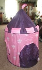 Discovery Kids Portable Folding Pink u0026 Purple Play Pop Up Princess Tent Castle & Discovery Kids 2707303 Pop up Igloo Snow Fort Blue | eBay