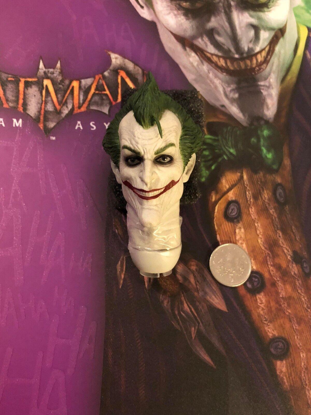 Hot Toys Batman Arkham Asylum Asylum Asylum VGM27 Joker Head Sculpt loose 1 6th scale 389cf3
