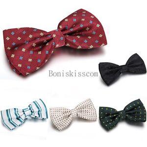 Bow-Tie-Classic-Fashion-Novelty-Mens-Adjustable-Tuxedo-Bowtie-Wedding-Necktie
