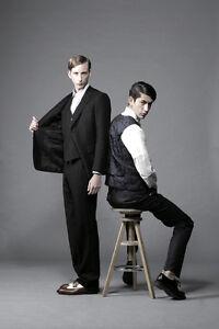 Mr-Bathing-Ape-3-Piece-Black-Suit-Slim-fit-1st-Camo-lining-Wool-Cashmere-New-48