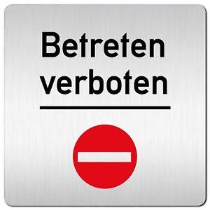 "Aluminium Schild /""kein Ausgang/"" 125 x 125 mm • Eingang • Türschild • Stop • Alu"
