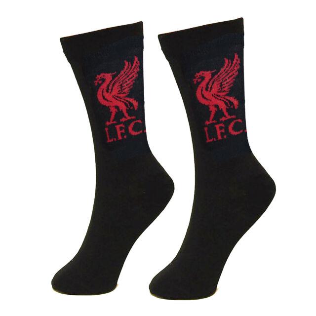 Liverpool FC Official Gift 1 Pair Liverbird Mens Dress Socks Black