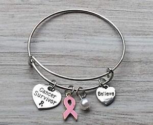 T Cancer Bracelet Pink Ribbon