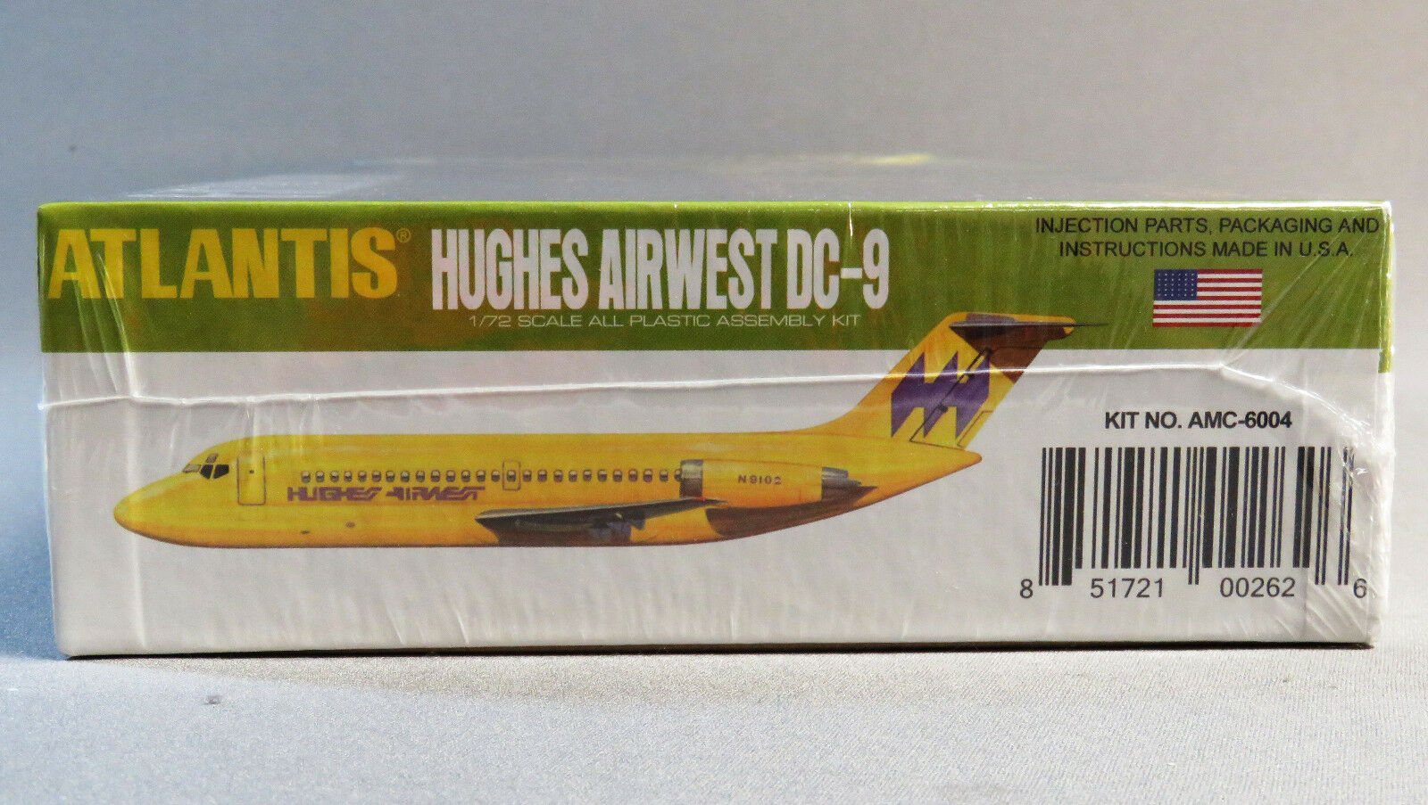 Atlantis Dc-9 Jet Airliner Hughes Airwest and TWA 1/72 Model Kit 6004