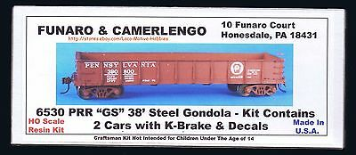 Funaro  F/&C HO PRR FM Flat Car with DD1A container loads Kit 8120
