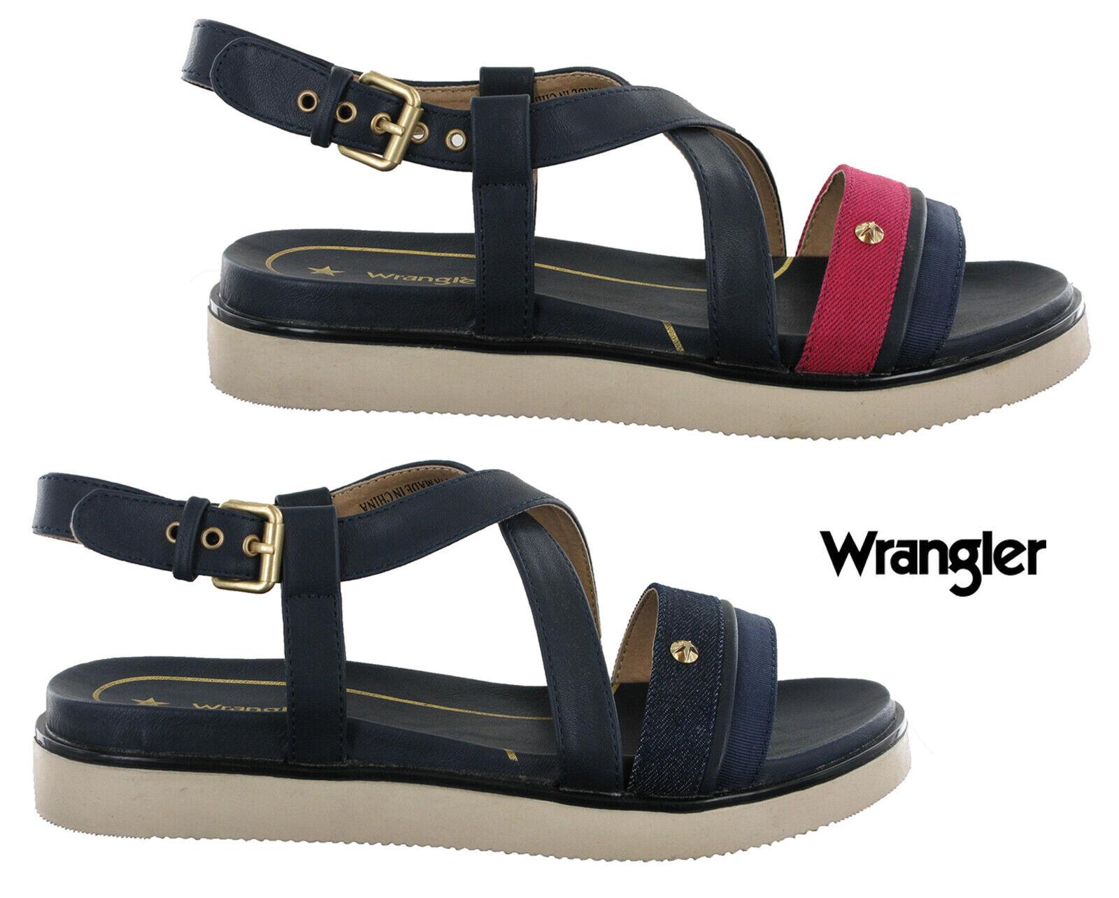 Wrangler Sandales Mode femmes America Karen Sangle Boucle Bout Ouvert chaussures