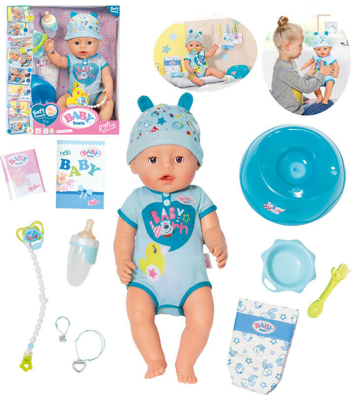 Zapf Creation Baby Born Soft Touch Boy Puppe 43 cm (Blau)