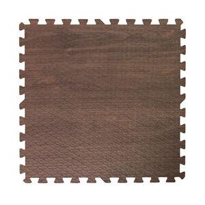 wood grain dark walnut interlocking eva foam floor puzzle work gym mat puzzle