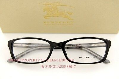 Brand New BURBERRY Eyeglasses Frames BE 2073 3164 BLACK SIZE 53 100% Authentic
