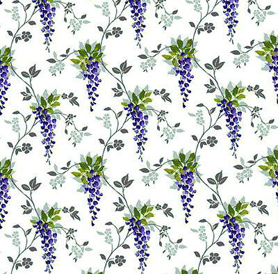 Dolls House Wallpaper 1/12th 1/24th scale Wisteria Quality Paper #186