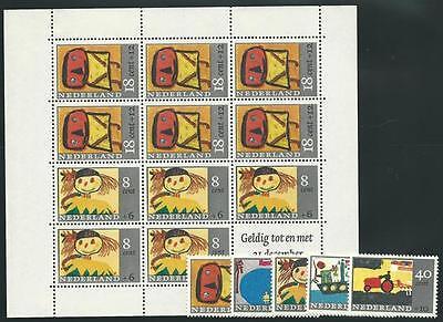 Block 3 Flight Tracker Niederlande Aus 1967 ** Postfrisch Minr.850-854 Voor Het Kind!