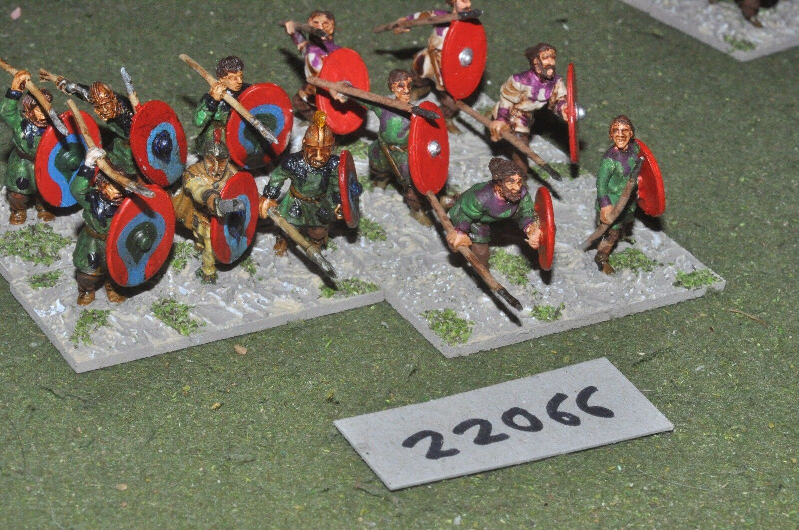 25mm roman era   roman - late auxiliaries 12 figs infantry - inf (22066)