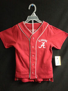 University of Alabama Toddler Boy Baseball Jersey Outfit with Shorts | eBay