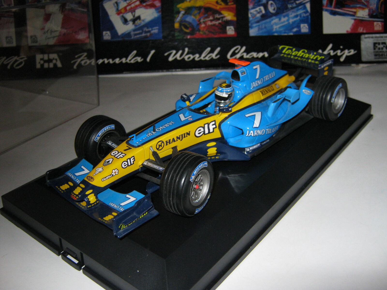 1 18 renault f1 r24 J. Trulli 2004 hotwheels f1 Top Dans Brandnew Showcase