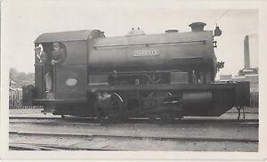 RARE 1938 Real Photo Geenhithe Kent Railroad Bristol Portland Cement 0-4-0 Train