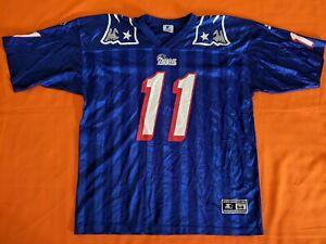 Vintage STARTER Patriots Bledsoe Jersey 11 Authentic 90's NFL Blue ...